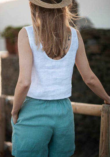 Linen crop top Leigh