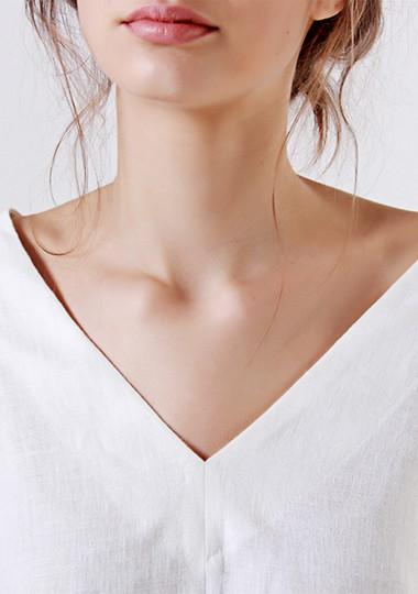 Linen V neck top Pandora
