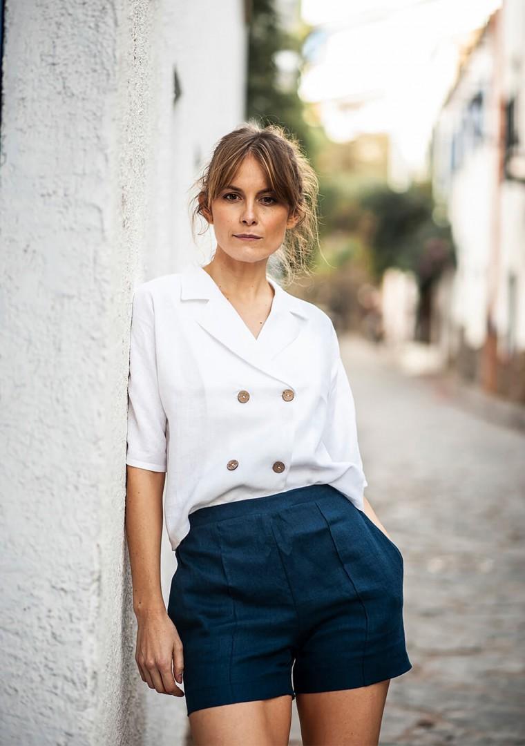 Linen shirt Salma in optic white 3