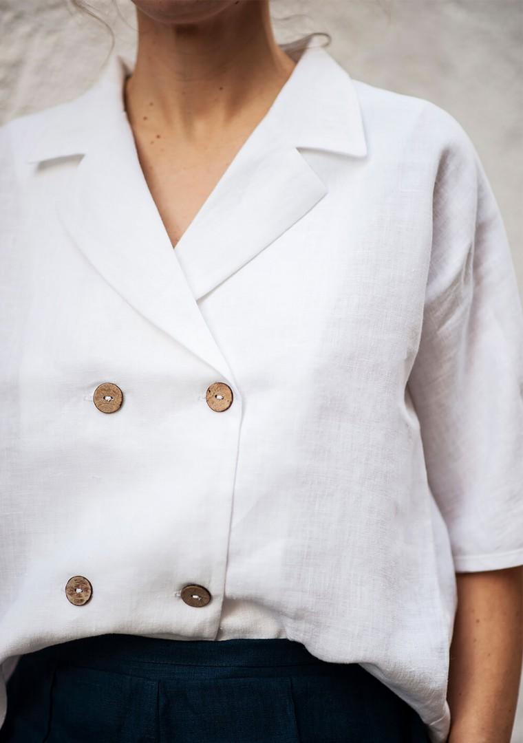 Linen shirt Salma in optic white 6