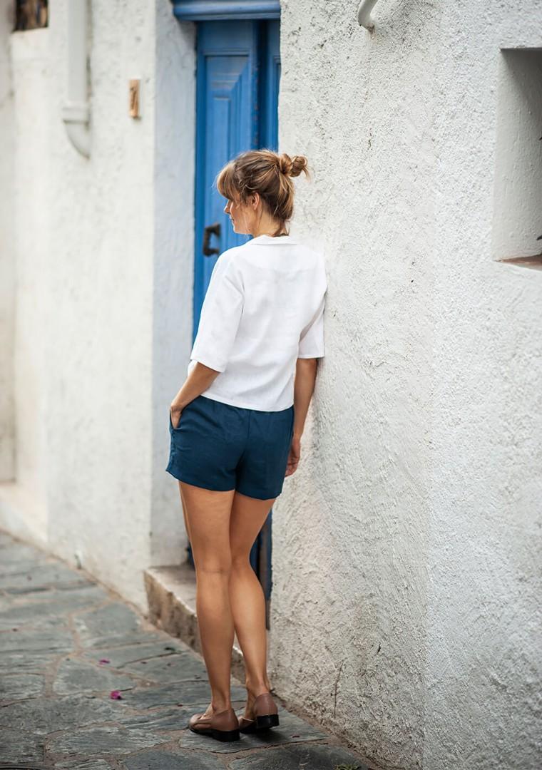 Linen shirt Salma in optic white 9