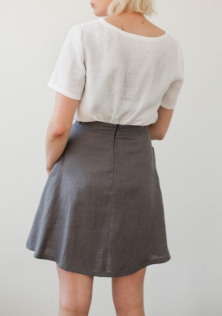 Linen T-shirt Yuna in optic white 4