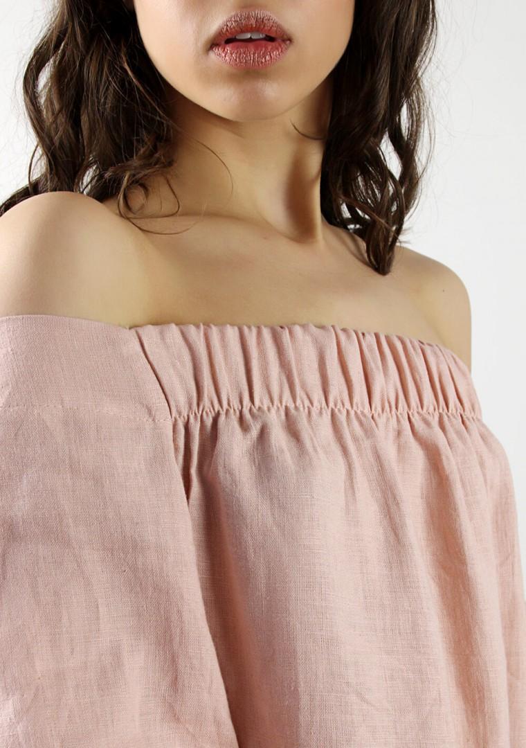 Off shoulder linen dress Bianca 5