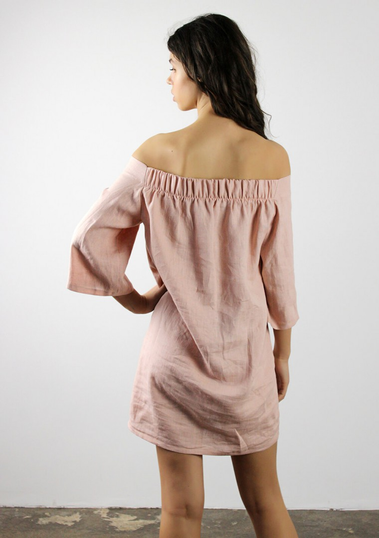Off shoulder linen dress Bianca 6