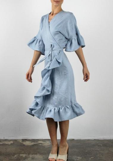 Linen wrap dress Reina