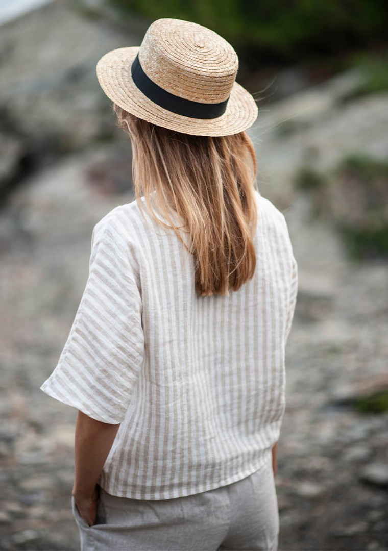 Striped linen top Elodie 6