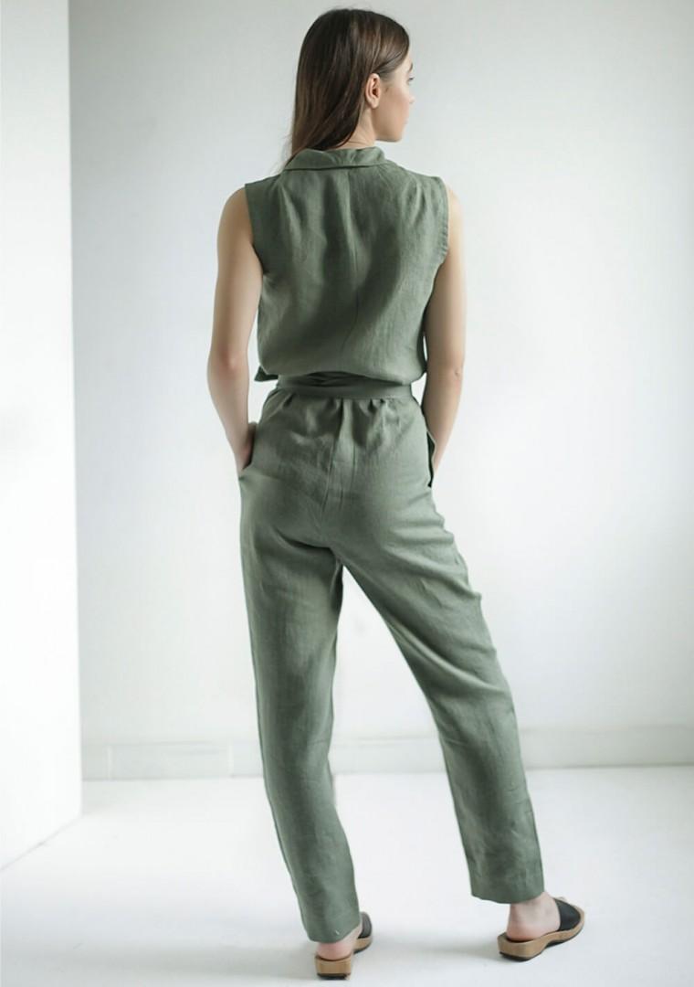Linen wrap jumpsuit Giovanna 5