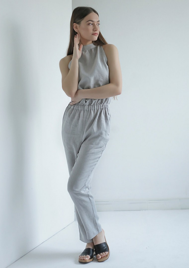 Linen high neck jumpsuit Mila 3