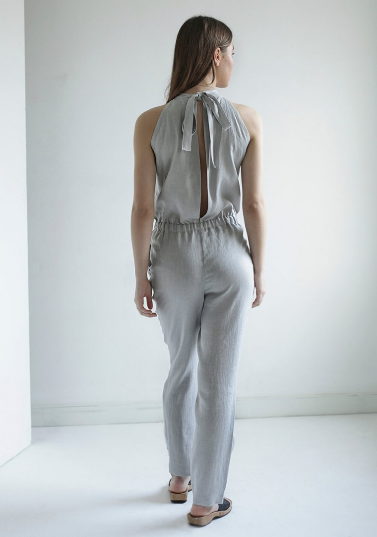 Linen high neck jumpsuit Mila 4