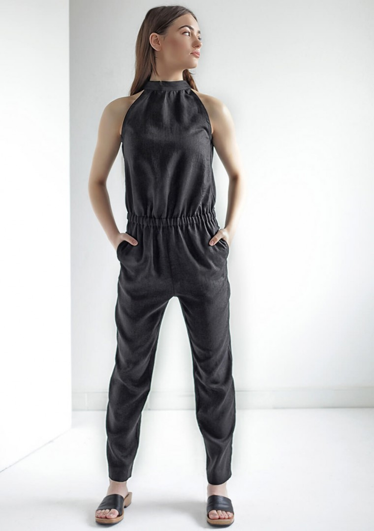 Linen high neck jumpsuit Mila 7