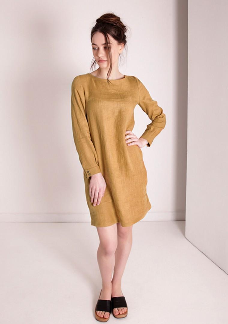 Linen mini shirt dress Daisy 8