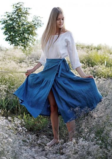 Linen wrap skirt Sabrina