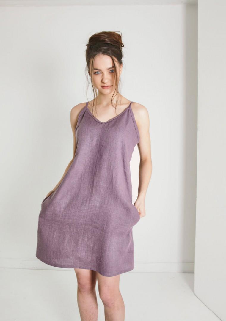 Linen cami dress Gia 4