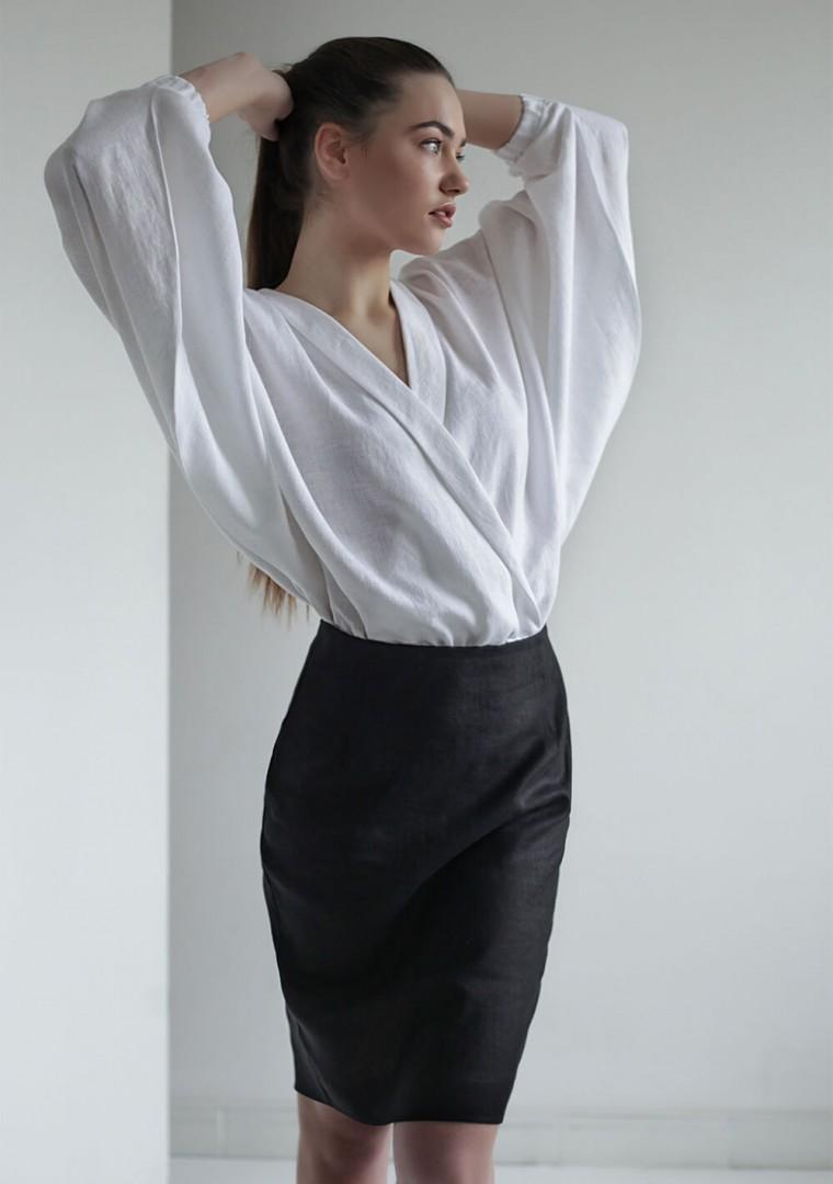 Linen wrap blouse Gloria 8