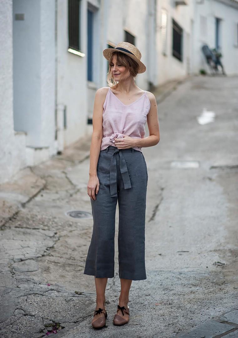 Linen crop pants Karter 10