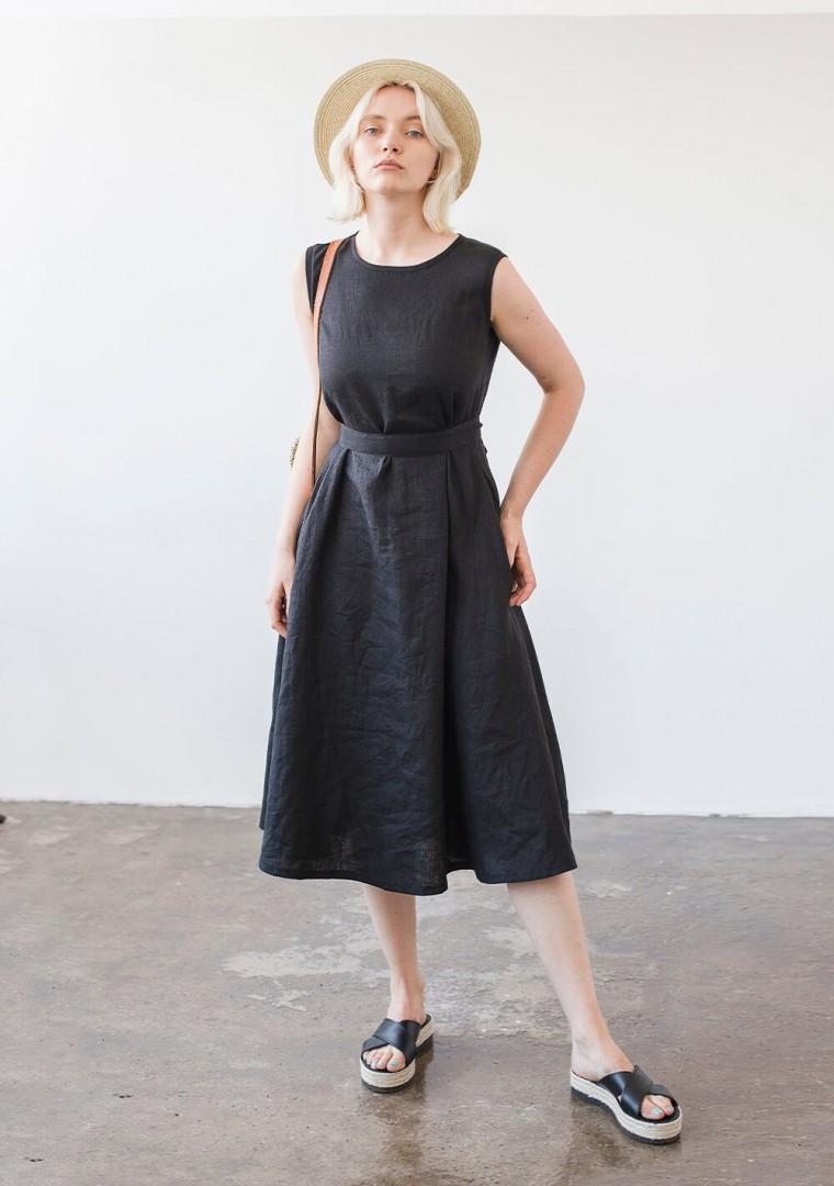 Linen dress with belt Chloe 6