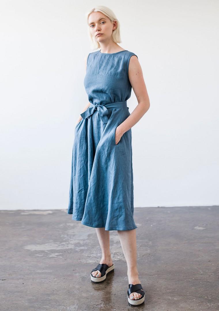 Linen dress with belt Chloe 7