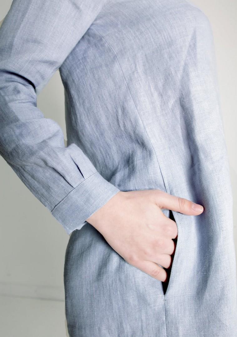 Linen mini shirt dress Daisy 3