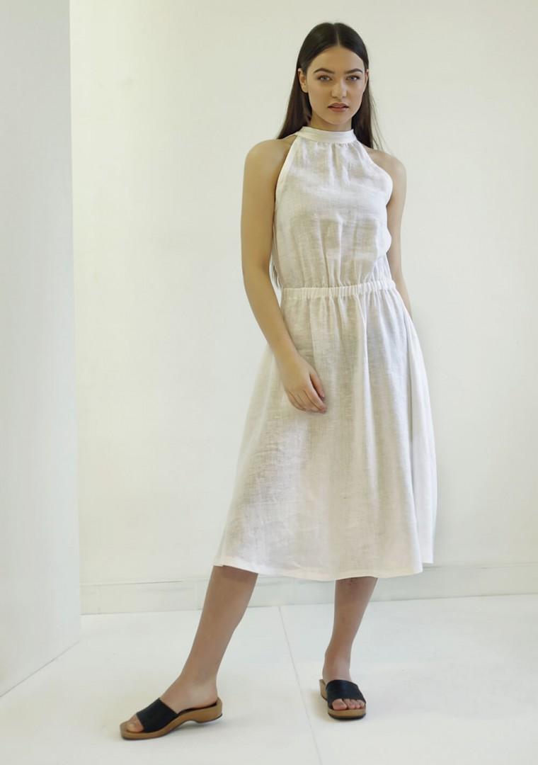 Linen high neck dress Estelle 6