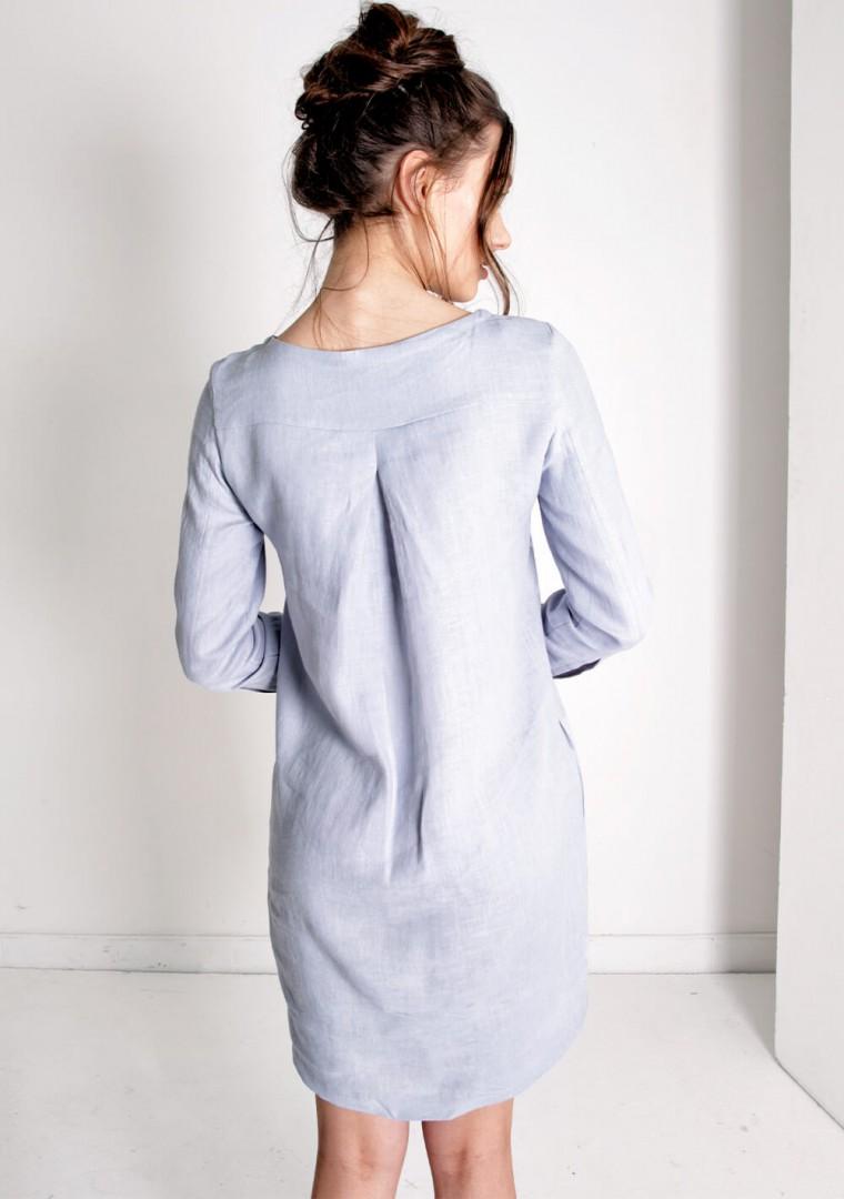 Linen mini shirt dress Daisy 6