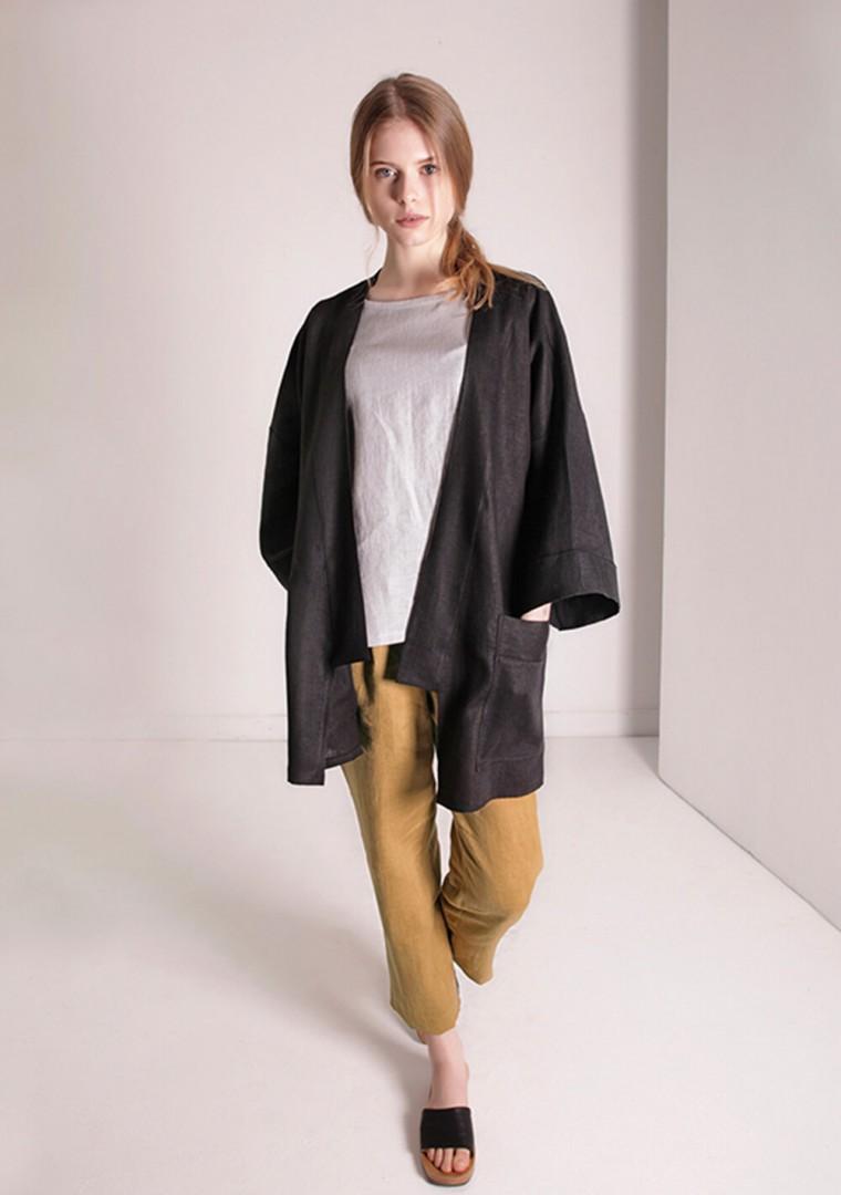 Oversized linen cardigan Devonne 9