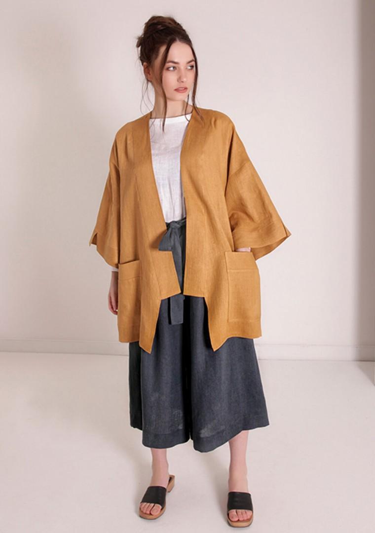 Oversized linen cardigan Devonne 10