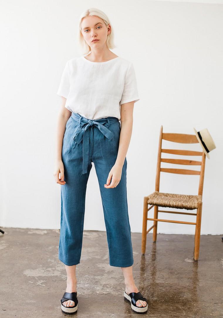 Linen pants Dakota in mustard 6