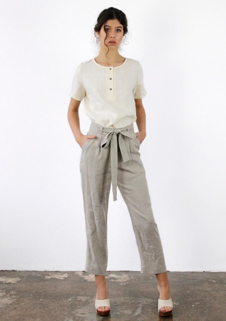 Linen pants Dakota in mustard 7