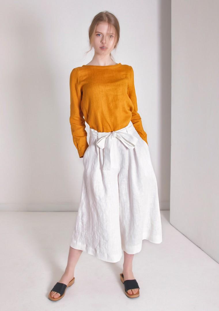 Linen culotte pants Ruth 6