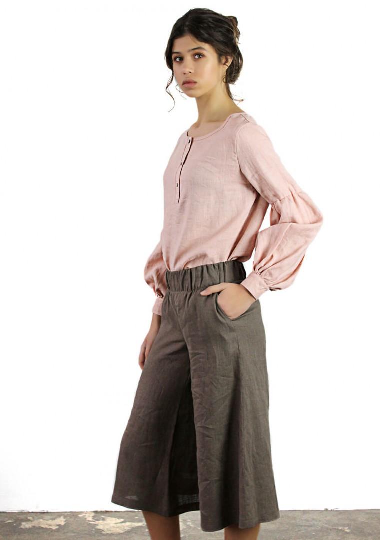 Linen culotte pants Sienna 5