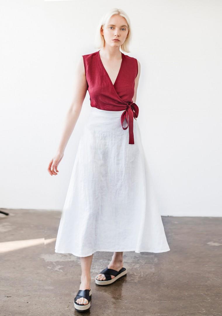 Ankle length linen skirt India 7
