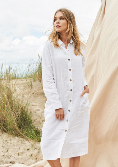 Linen shirt dress April