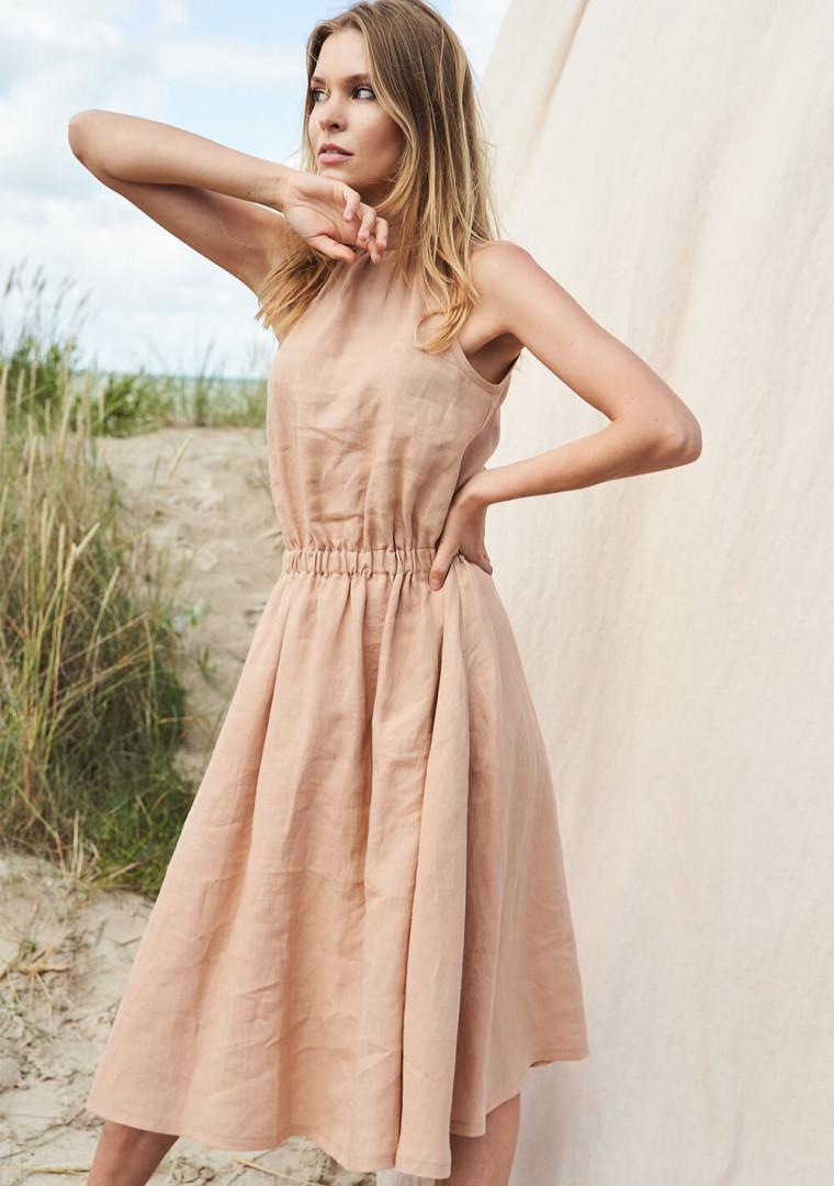 Linen high neck dress Estelle 4