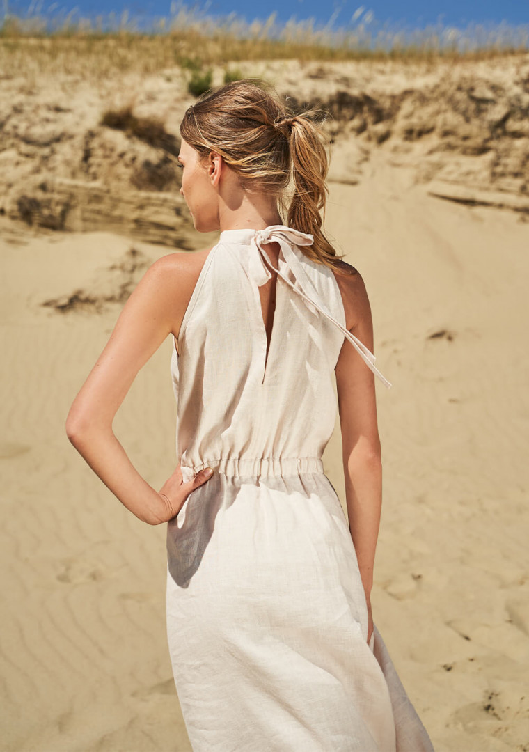 Linen high neck dress Estelle 3