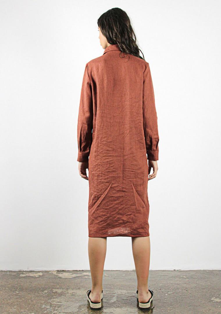 Linen shirt dress April 5