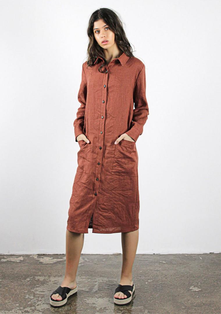 Linen shirt dress April 2