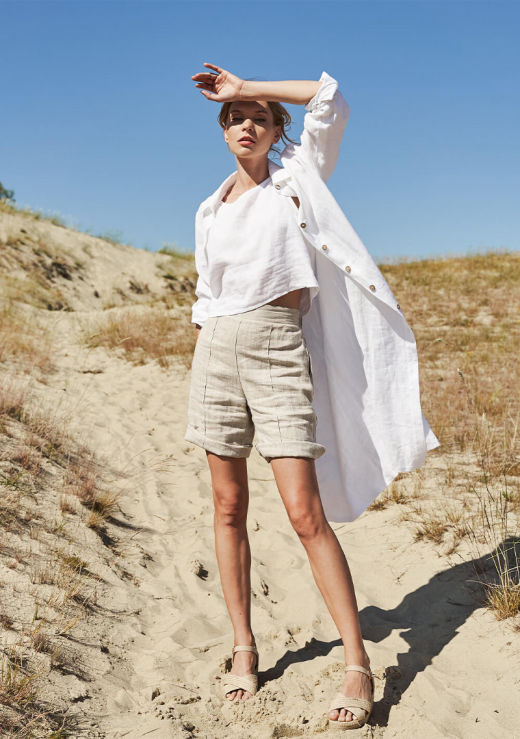 Linen shirt dress April 8