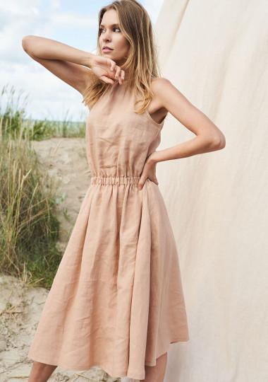 Linen halter dress Estelle