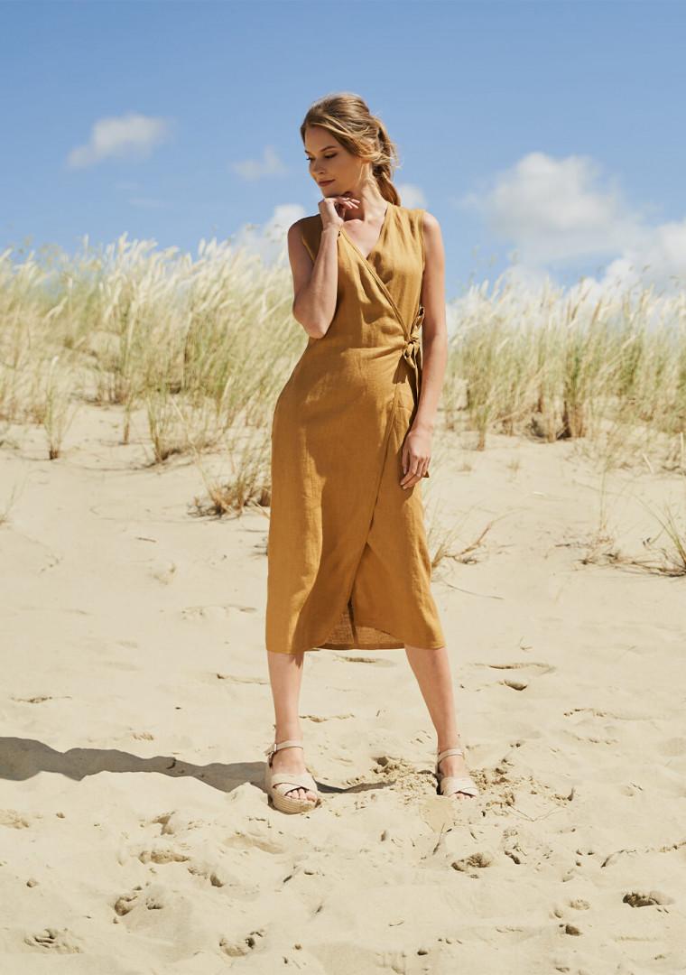 Linen wrap dress Lydia 4