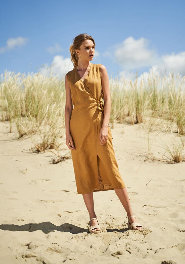 Linen wrap dress Lydia 3