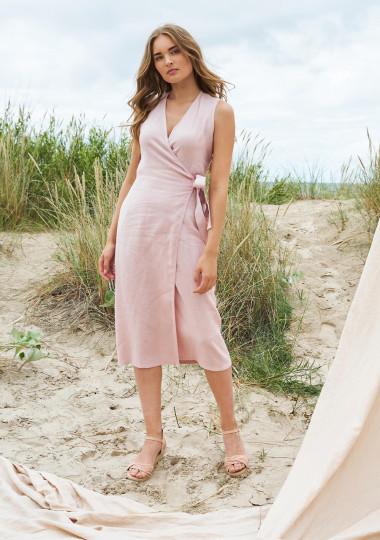 Linen wrap dress Lydia