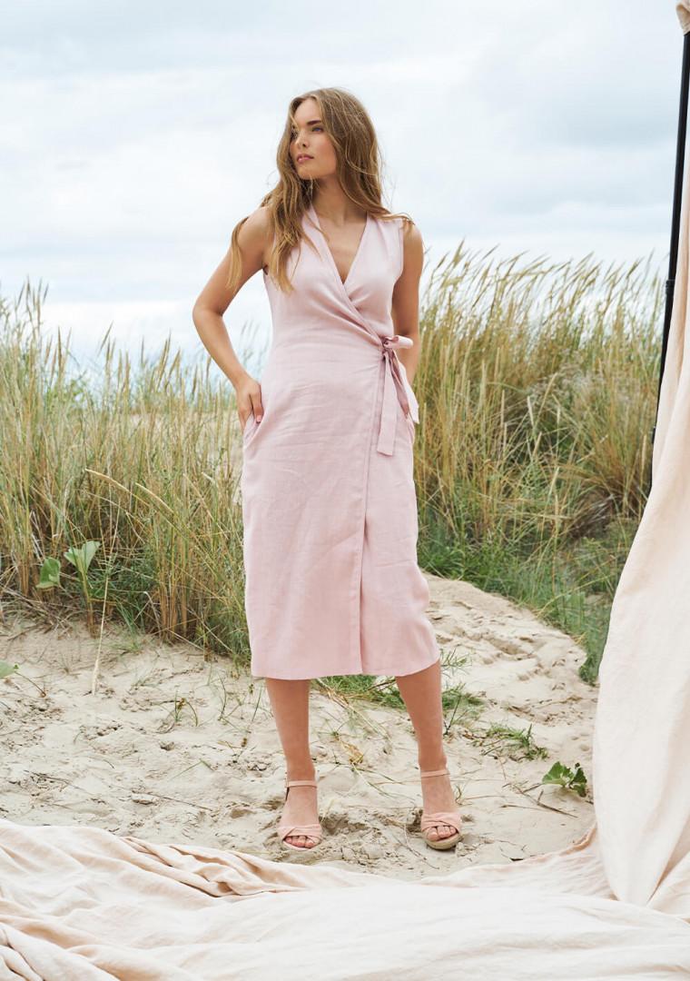 Linen wrap dress Lydia 2