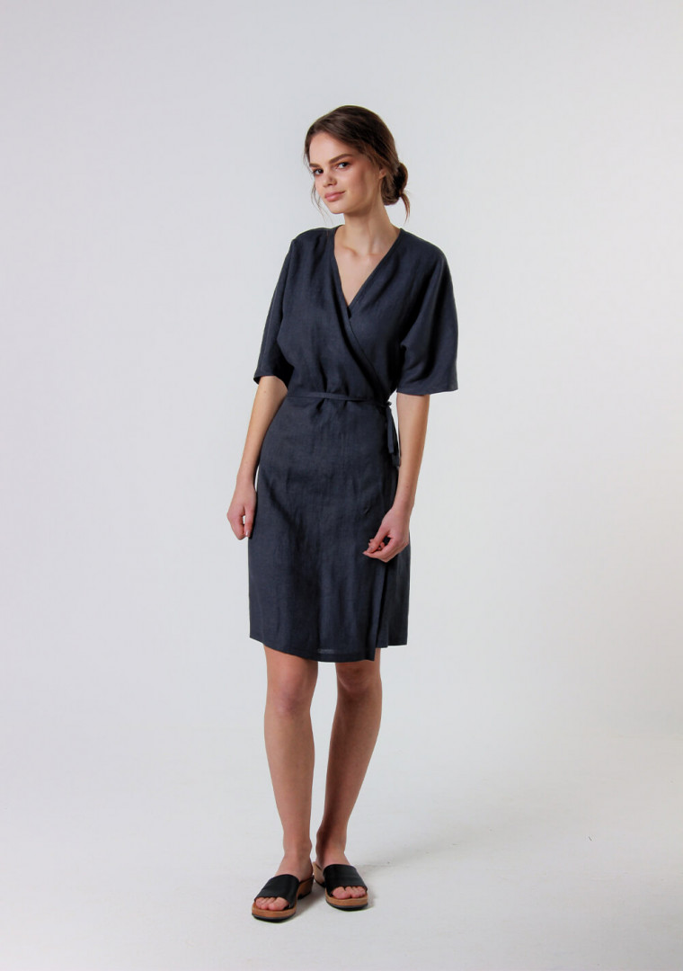 Linen wrap dress Noelle 5
