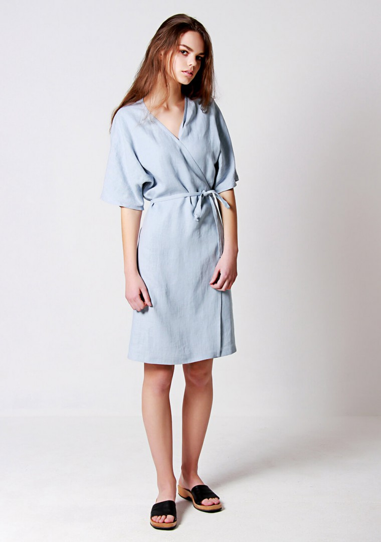 Linen wrap dress Noelle 6