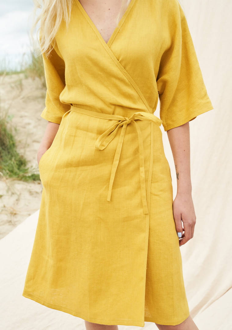 Linen wrap dress Noelle 3