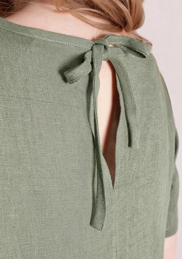 Linen dress Darling in moss green 6