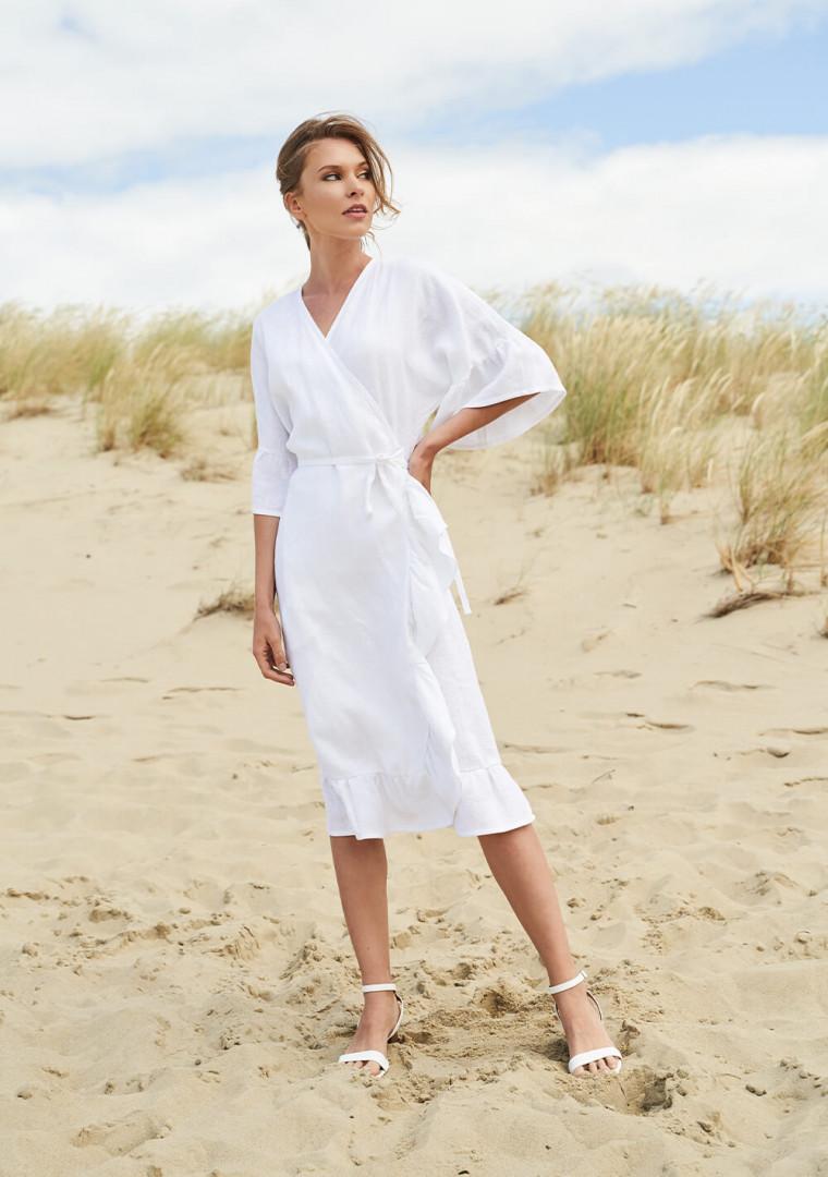 Linen wrap dress Reina 1