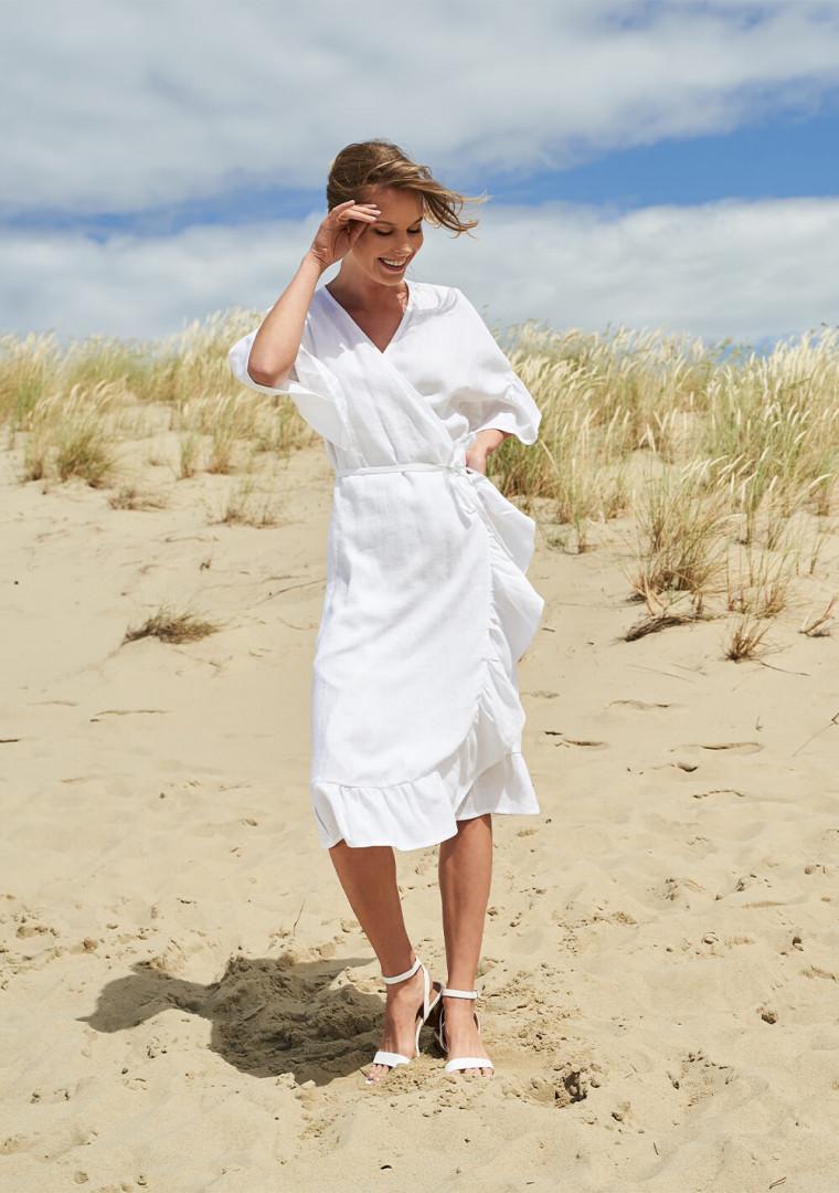 Linen wrap dress Reina 2