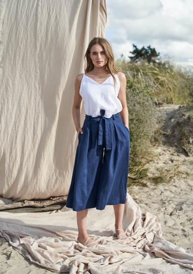 Linen culotte pants Ruth