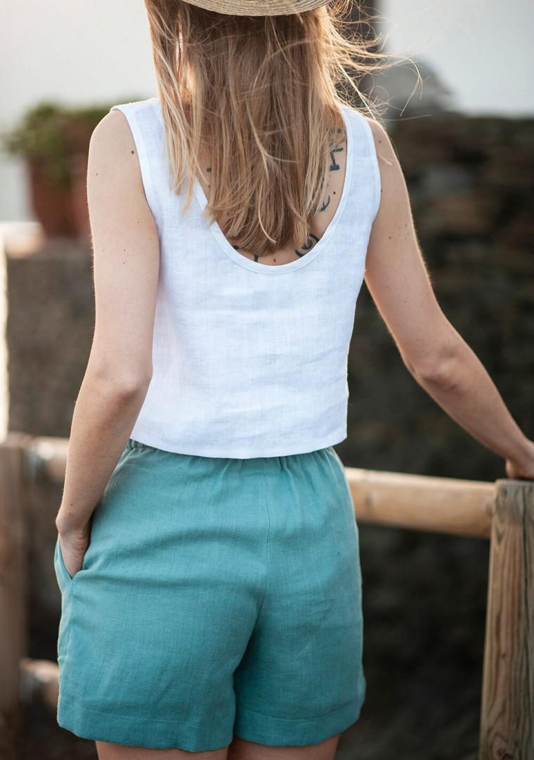 Linen drawstring shorts Kaia 6